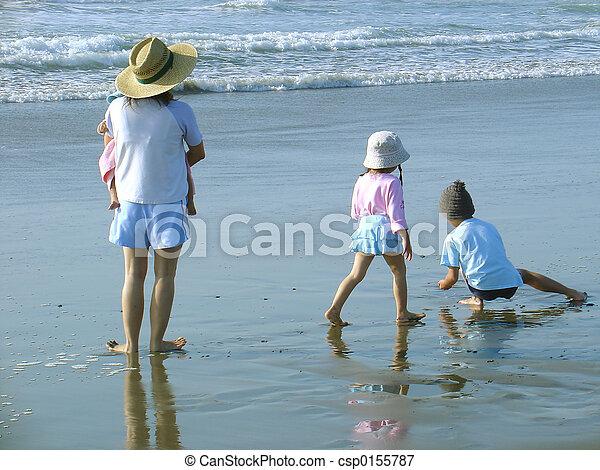 Beach Family - csp0155787