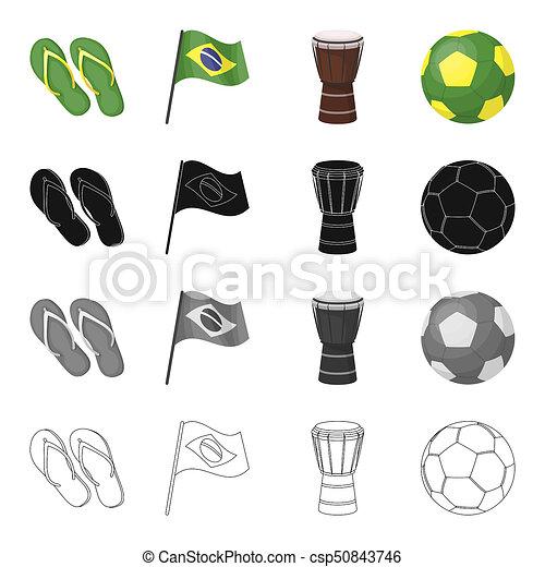 Soccer Flip Flops Soccer Ball Graphic