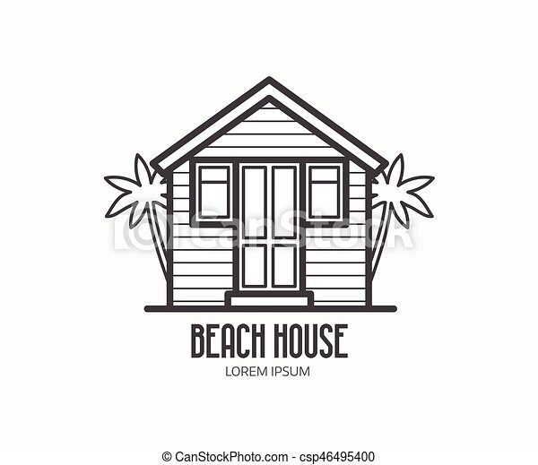 beach house logotype csp46495400 - Beach House Drawings