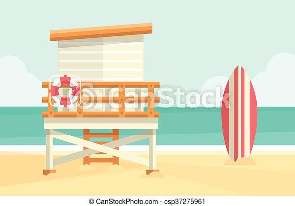 Beach Hut - csp37275961