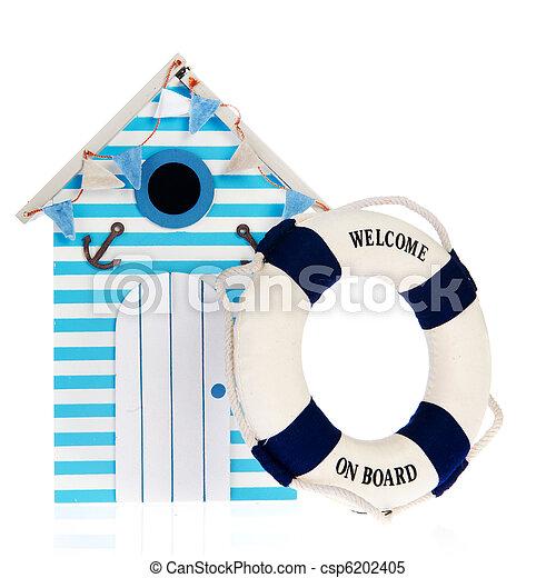 Beach hut with live buoy - csp6202405