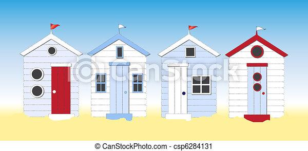 Beach huts - csp6284131