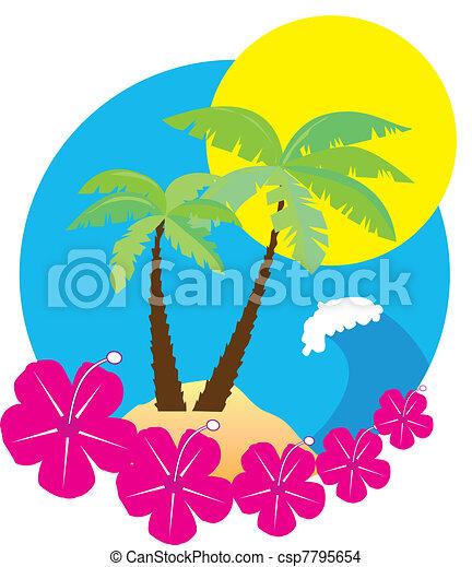 Beach icon - csp7795654