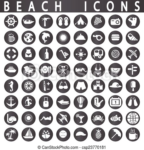 Beach Icons - csp23770181