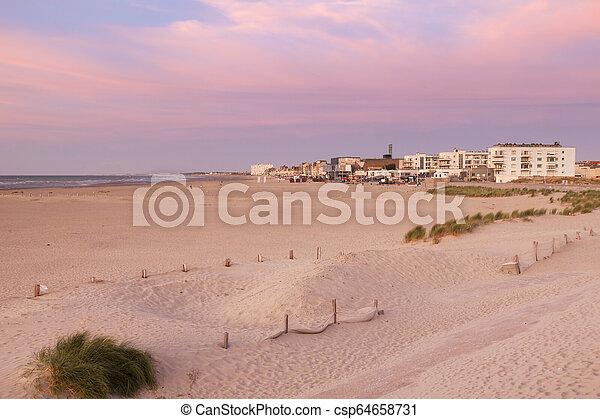 Beach in Dunkirk - csp64658731