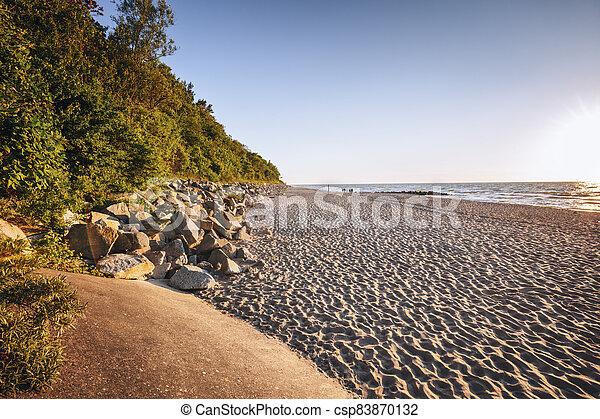 Beach in Niechorze - csp83870132