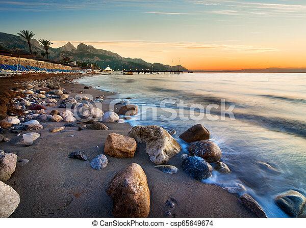 Beach in Turkey - csp65649674