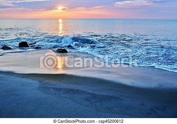 Beach Jetty Beneath the Sunrise - csp45200612