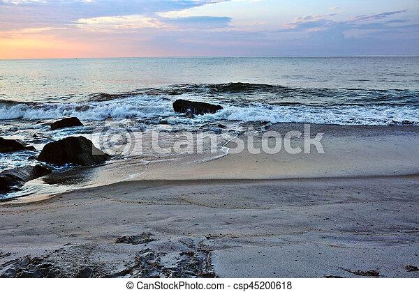 Beach Jetty Beneath the Sunrise - csp45200618