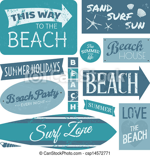 Beach Labels Collection - csp14572771