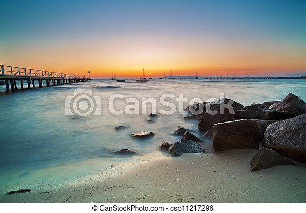 Beach Landscape At Sunset - csp11217296