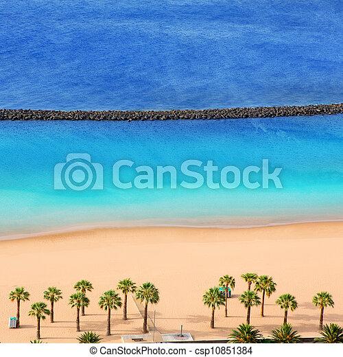 Beach Las Teresitas in Santa cruz de Tenerife north - csp10851384