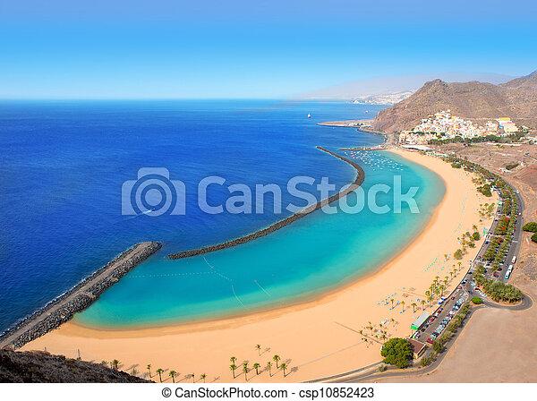 Beach Las Teresitas in Santa cruz de Tenerife north - csp10852423