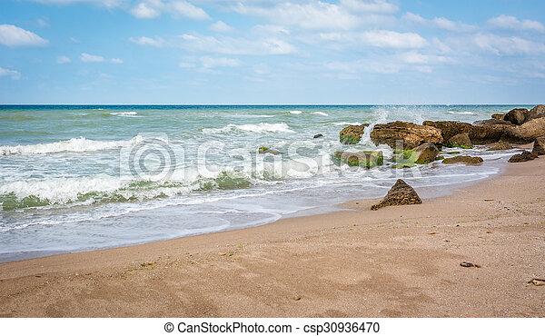 Beach of Black sea in Turkey - csp30936470