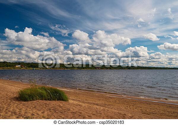Beach of the lake - csp35020183