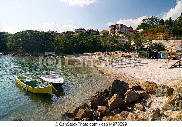 beach on the Black Sea in Bulgaria, Nesebar - csp14978599
