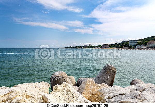 Beach on the Black Sea - csp26797129