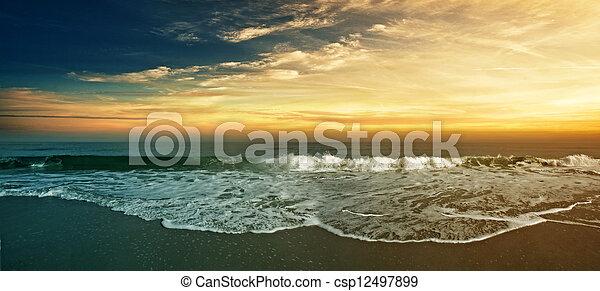 Beach Panorama - csp12497899