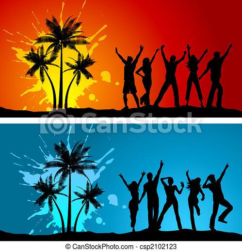 Beach parties - csp2102123