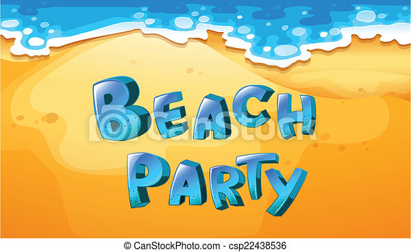 beach party illustration of a background of beach party rh canstockphoto com summer beach party clipart beach party clip art free