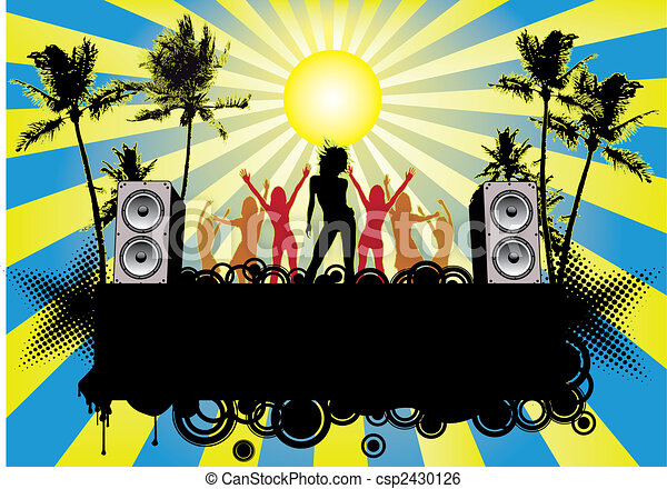 Beach Party Flyer Ibiza - csp2430126