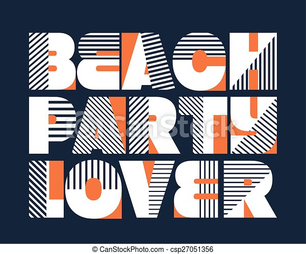 817ec54a Beach party lover typography. Beach party lover t-shirt typography ...