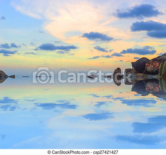 Beach rock - csp27421427