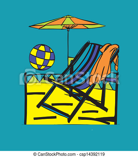 Beach Scene Simple Beach Chair Design Very Colorful And Easy To