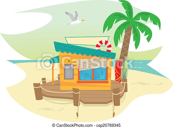 Beach Shack Cute And A Palm Tree Surfboards Eps