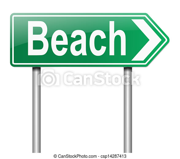 Beach Sign Stock Illustration