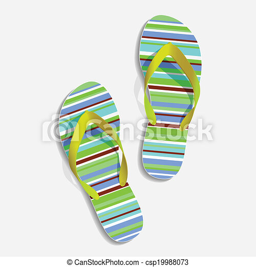 Beach slippers - csp19988073