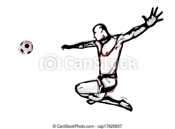 beach soccer player - csp17625837