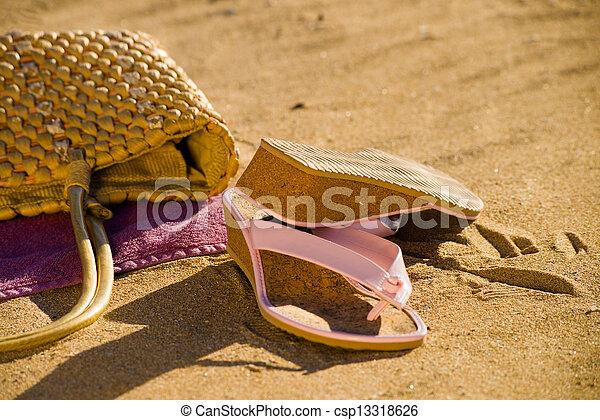 Beach still life - csp13318626