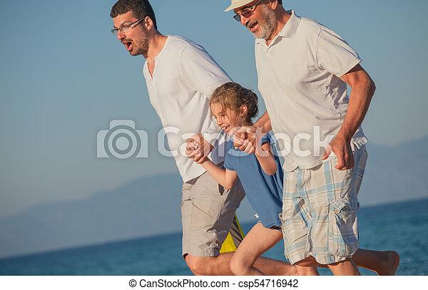 Beach Summer Vacation Generations - csp54716942