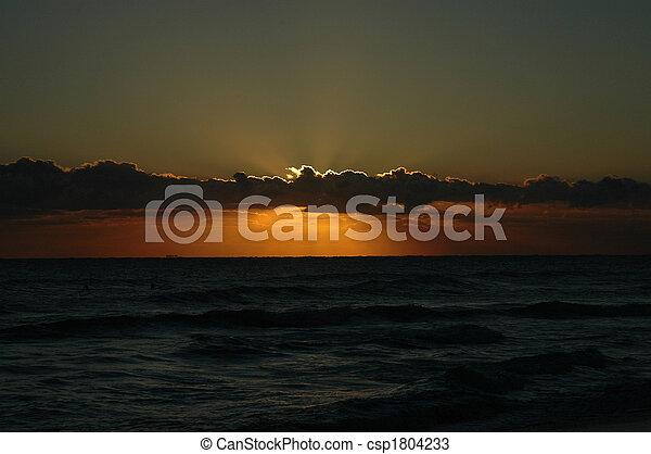 Beach Sunrise 1 - csp1804233