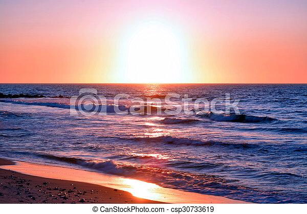 Beach Sunrise - csp30733619