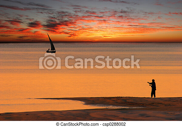 Beach sunset - csp0288002