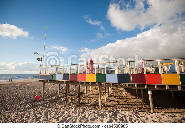 Beach terrace in the evening - csp4530905