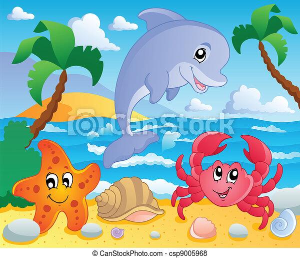 Beach theme scenery 3 - csp9005968