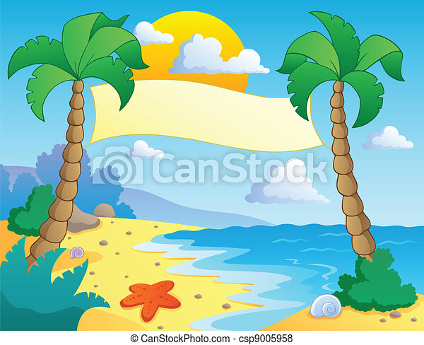 Beach theme scenery 4 - csp9005958