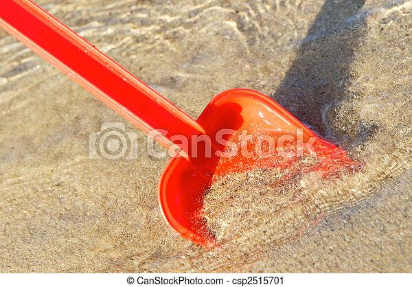 Beach Toys in the sand - csp2515701