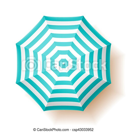 beach umbrella, top view clipart vector - search illustration