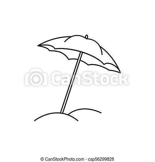 Beach Umbrella Art Sketch
