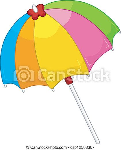 Beach Umbrella - csp12563307
