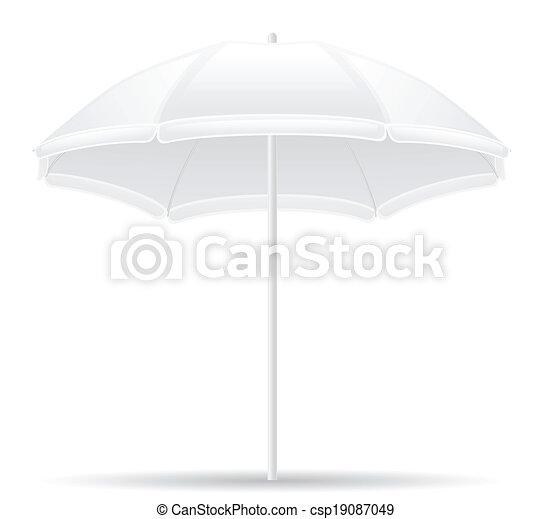 beach umbrella vector illustration - csp19087049