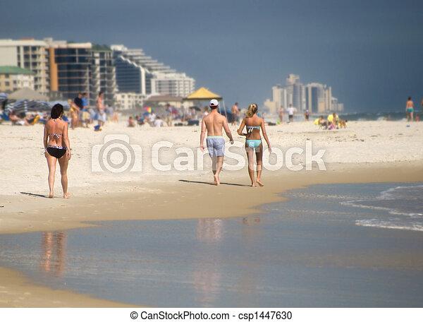Beach Visitors - csp1447630