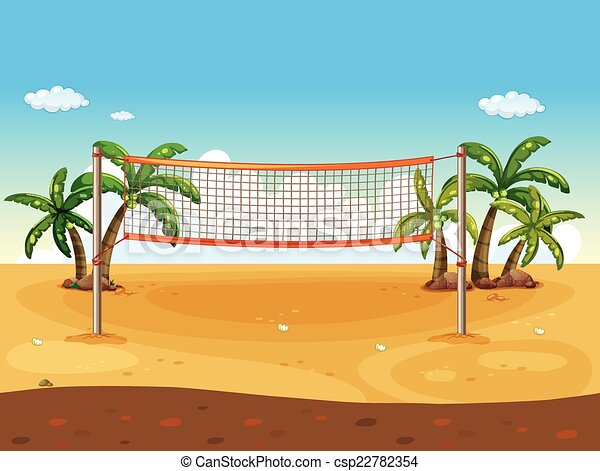 beach volleyball illustration of a beach volleyball rh canstockphoto com sand volleyball clipart free sand volleyball clipart free