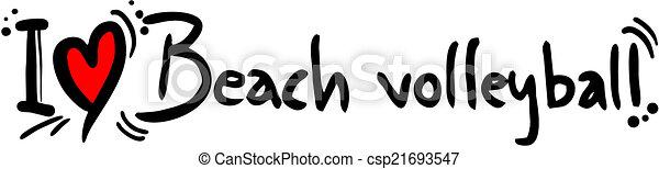 Beach Volleyball love - csp21693547