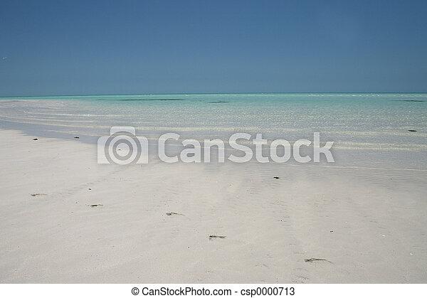 Beach with footprint - csp0000713