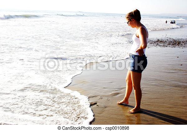 Beach Woman - csp0010898